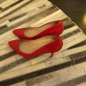 Club Monaco Red Velvet Shoes